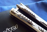 Titanium RIKE Knives BALISONG / BUTTERFLY Knife **Stunning**New in Pouch - 4 of 12