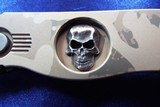 Pro-Tech TR-2 Custom  SHAW Skull Tactical Response Automatic Knife TAN CAMO ANODIZED  **ONE of ONE!** NIB - 3 of 8