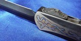 Heretic Knives Custom Manticore X OTF Flamed Titanium DLCHand Ground Dagger (2019 Blade Show) Serial #016 NIB - 5 of 10