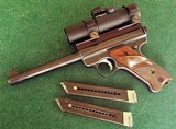 RUGER MARK I TARGET PISTOL with PRO-POINT Red dot OPTICS ~TARGET GRIPS ~ 2 MAGS (1971) EXCELLENT CONDITION!