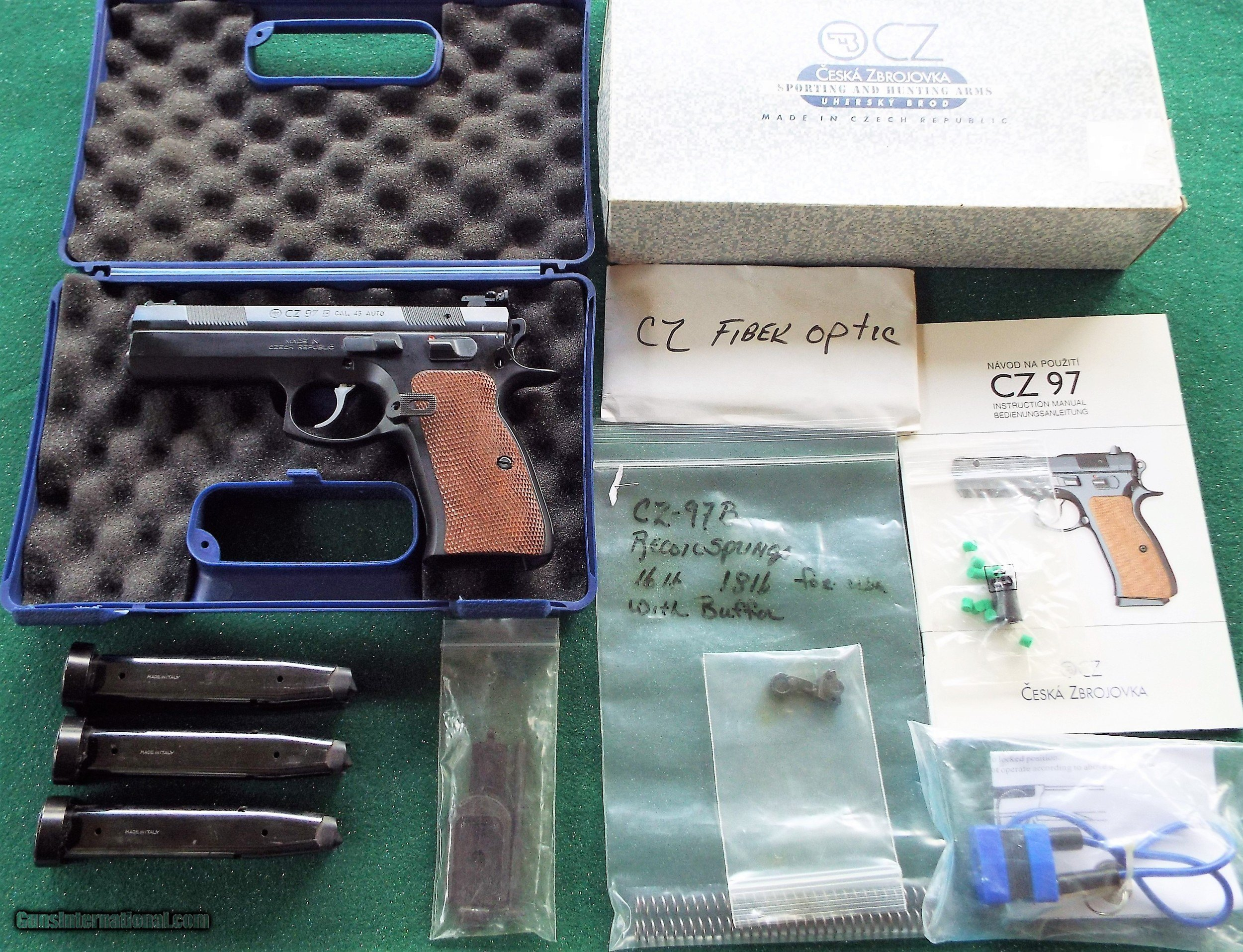 Cz 97b Pistol 45ca In Box Many Extras
