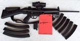 SPECIAL WEAPONS SW-5 9MM CARBINE RIFLE (H&K 94 CLONE) PRISTINE! (8)H&K MAGS & MANY EXTRAS