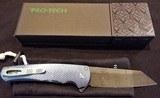 "Pro-Tech Malibu 3D Milled Titanium Frame Nichols Damascus Reverse Tanto Plunge Lock Flipper Knife (3.3"" Damascus)NIB Authorized Dealer - 6 of 8"