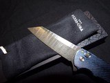 "Pro-Tech Malibu 3D Milled Titanium Frame Nichols Damascus Reverse Tanto Plunge Lock Flipper Knife (3.3"" Damascus)NIB Authorized Dealer - 5 of 8"