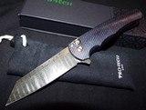 "Pro-Tech Malibu 3D Milled Titanium Frame Nichols Damascus Reverse Tanto Plunge Lock Flipper Knife (3.3"" Damascus)NIB Authorized Dealer - 1 of 8"