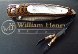 WILLIAM HENRY STUDIO KNIFE ~ Limited Edition #13/50MODEL B07 HOKUSAI Mokume / Mother Of Pearl /OPALSwith clip case& display box NIB - 11 of 11