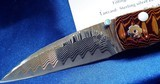 WILLIAM HENRY STUDIO KNIFE ~ Limited Edition #13/50MODEL B07 HOKUSAI Mokume / Mother Of Pearl /OPALSwith clip case& display box NIB - 9 of 11