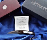 WILLIAM HENRY STUDIO KNIFE ~ Limited Edition #13/50MODEL B07 HOKUSAI Mokume / Mother Of Pearl /OPALSwith clip case& display box NIB - 8 of 11