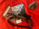 """Thompson Center Contender with 14"""" 30-30 barrel and Bushnell scope"""