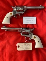 Unfired Consecutive Serial Numbered Single Action Army Second Generation Colts with Factory Letter - 1 of 5
