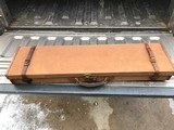 English Canvas Brown case fitted for a Parker #2 frame 12 ga. 30 inch barrel