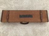 "Parker Bros. Brown Canvas 28""-30"" 12 ga. Gun Case Vintage"