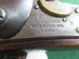 US Model 1836 Waters Flintlock pistol converted to percussion - 4 of 8