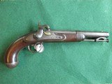 US Model 1836 Waters Flintlock pistol converted to percussion - 1 of 8