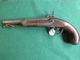 US Model 1836 Waters Flintlock pistol converted to percussion - 2 of 8