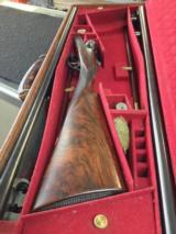 Dickson and son 12 ga side by side two barrels