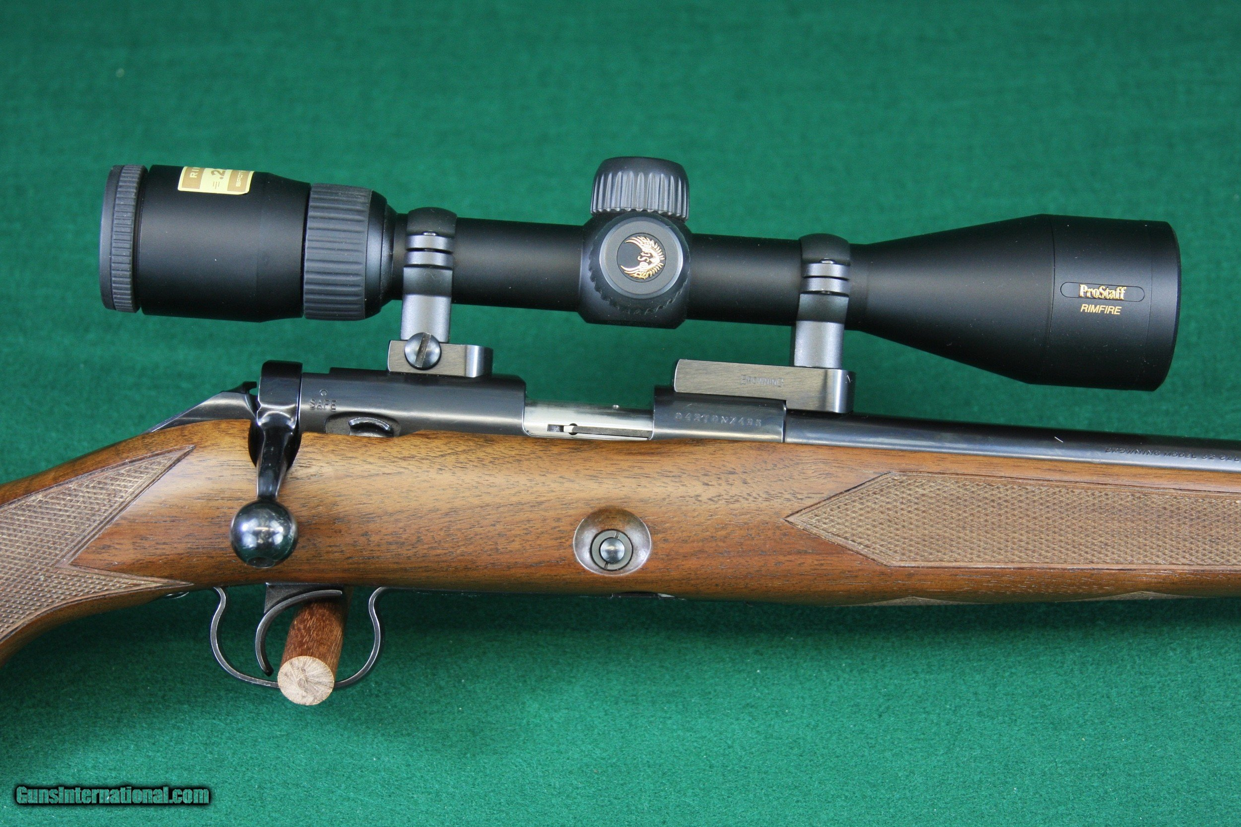 Browning 52 Sporter .22 LR reproduction of Winchester 52 - 1 of 20 ...