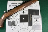 Browning T-Bolt Grade I Belgium .22 LR w/Box & Factory Test Target