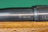 Anschutz 1743 .222 Remington Bolt Action Checkered Walnut Mannlicher Stock Carbine Rifle - 19 of 25
