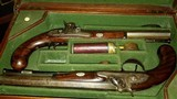 WILLIAM THOMAS, HIGH QUALITY LONDON GUNMAKER RARE CASED DUELING PISTOLS - 1 of 14