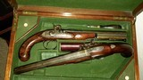 WILLIAM THOMAS, HIGH QUALITY LONDON GUNMAKER RARE CASED DUELING PISTOLS - 2 of 14