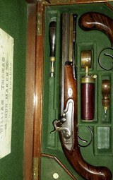 WILLIAM THOMAS, HIGH QUALITY LONDON GUNMAKER RARE CASED DUELING PISTOLS - 7 of 14