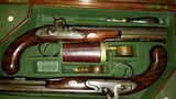WILLIAM THOMAS, HIGH QUALITY LONDON GUNMAKER RARE CASED DUELING PISTOLS - 12 of 14