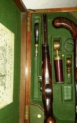WILLIAM THOMAS, HIGH QUALITY LONDON GUNMAKER RARE CASED DUELING PISTOLS - 10 of 14