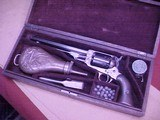 """#4857 Whitney Navy revolver, Second Variation, 7-1/2""""x36cal percussion revolver, cased with accessories - 1 of 21"""