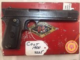 COLT Model 1900 38 acp with Box and Letter # 4225 - 1 of 15