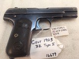 Colt 1903 Model M 32 acp. Early and Rare Type 1 Pocket Hammerless