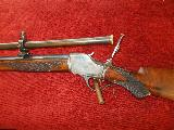 Winchester 1885 Hi-Wall Deluxe Schutzen Rifle 32-40 s# 340xx Cody verivication letter,