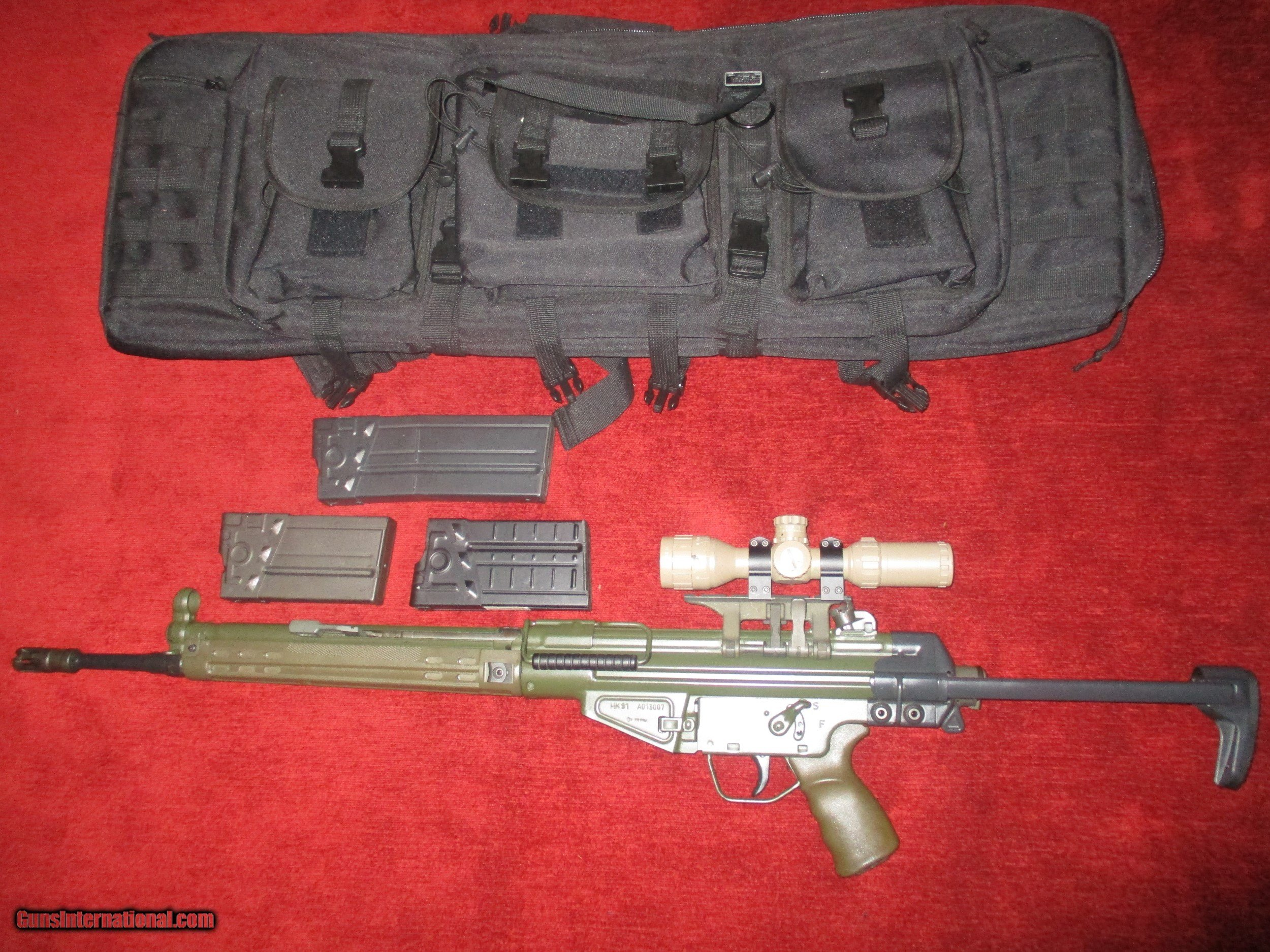 Heckler & Kock 91 A-2 Package Military factory Green w/retractable