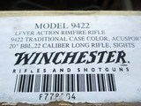 Winchester 9422 Traditional Case Colored Acusport (2005) only, 22 lr. Carbine - 14 of 14