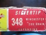 Winchester 348 Winchester Brass (19) original cases & box - 2 of 2
