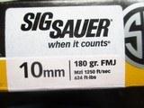 Sig Sauer 10mm Preformance 180 gr. FMJ - 3 of 3