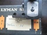 Lyman 58 adjustable (micrometer type) side mount peep sights