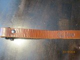 "Savage 1"" sling screw-tight swivels (1950's original) thick leather - 5 of 7"