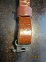 "Savage 1"" sling screw-tight swivels (1950's original) thick leather - 6 of 7"