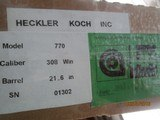 Heckler & Koch 770 308 Win. Sporting rifle / Accessories - 11 of 11