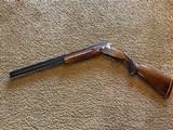 """Winchester 101 Shotgun O/U 12 Gauge 26"""" Barrel Skeet. Extensively engraved receiver, trigger guard, metal in excellent condition. - 4 of 11"""
