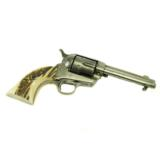 Colt Army .38 Cal. single action army revolver with stag grips