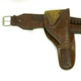 "Lawrence marked gun belt with matching but not marked 6"" holster."