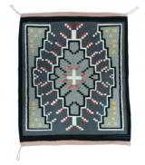 Navajo weaving - Germantown with center cross