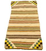 Navajo checkerboard double saddle weaving