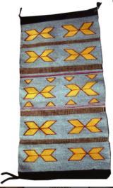 Navajo pictorial weaving with butterflies
