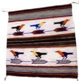 Navajo pictorial weaving with six birds on arrows