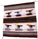 Navajo Pictorial Weaving with Six Birds On Arrows