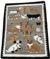 Navajo Pictorial Weaving with Animals - 1 of 2