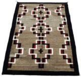 Navajo with Hubbell crosses. Floor rug